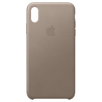 Apple mobile phone case: Leren hoesje voor iPhone XS Max - Taupe