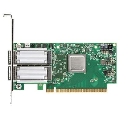 DELL Mellanox ConnectX-4 met Twee Poorten, EDR, VPI QSFP28 laag profiel adapter, klanten kit Netwerkkaart
