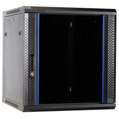 DS-IT 12U wandkast ongemonteerd met glazen deur 600x600x635mm (BxDxH) Rack