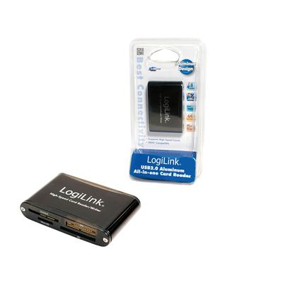 LogiLink Cardreader USB 2.0 Geheugenkaartlezer - Zwart