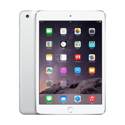 Apple tablet: iPad mini 3 16GB Wifi + Cellular - Silver  - Zilver (Refurbished LG)