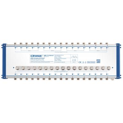 Spaun AZR 171170/10 F Kabel splitter of combiner - Blauw, Zilver