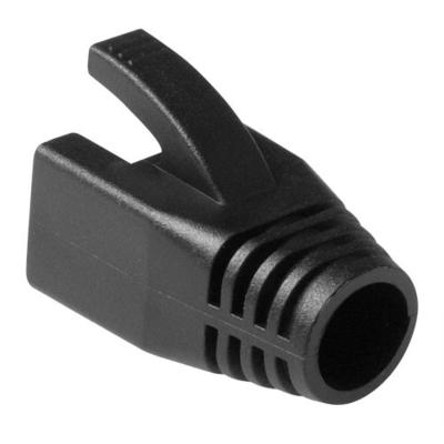 ACT RJ45 witte tule voor 7,0mm kabel Kabelbeschermer - Zwart