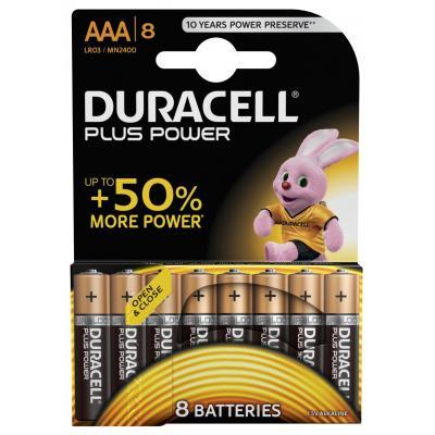 Duracell batterij: AAA Plus Power batterijen (8 stuks) - Zwart, Oranje