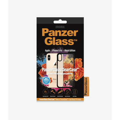 PanzerGlass ClearCase iPhone X/Xs - Black Edition Mobile phone case - Zwart,Transparant