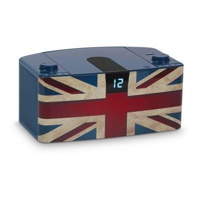 Bigben interactive CD-radio: Draagbare radio / CD speler met USB - Blauw, Rood, Wit