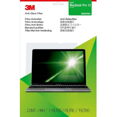 3m screen protector: Anti-Glare Filter for Apple MacBook Pro 15 (2016 model) - Transparant