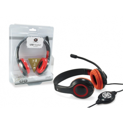 Conceptronic CCHATSTARU2R Headset - Rood
