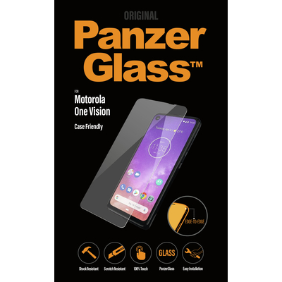 PanzerGlass Motorola One Vision Edge-to-Edge Screen protector - Transparant