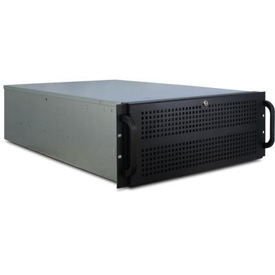 "Value 19"" Industrial Rack-Mount Server Chassis, 4UH, black - Zwart"