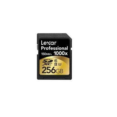 Lexar flashgeheugen: 256GB SDXC UHS-2 - Zwart