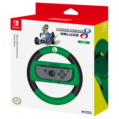 Hori : Mario Kart 8 Deluxe Racing Wheel Luigi, Nintendo Switch - Groen