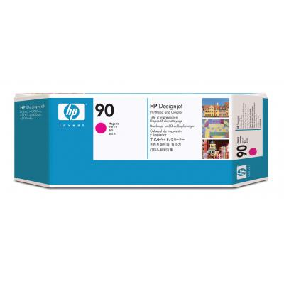 Hp printkop: 90 magenta DesignJet printkop en printkopreiniger