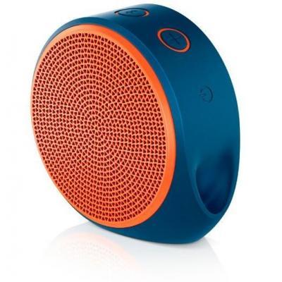 Logitech draagbare luidspreker: X100 Mobile Speaker - Donkerblauw, Oranje
