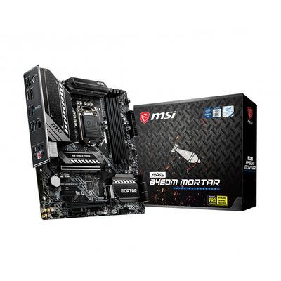 MSI LGA1200, Intel B460, 4x DDR4, HDMI, DP, SATA III, M.2, 2.5 LAN, USB 3.2, PS/2, mATX, 243x243 mm Moederbord
