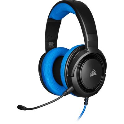 Corsair HS35 Headset - Zwart,Blauw
