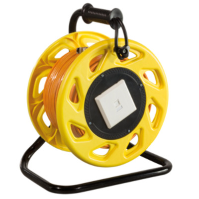 LogiLink CAT.6A 500MHz LAN Cable on Spool with Cat.6A Keystone Jack and Face Plate, 60m, orange Netwerkkabel - .....