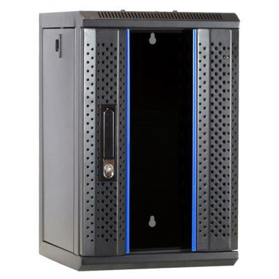 DS-IT 10 inch 9U serverkast met glazen deur 312x310x486mm (BxDxH) Stellingen/racks