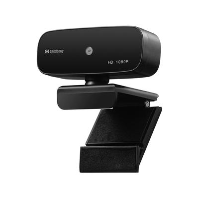 Sandberg USB Autofocus 1080P HD Webcam - Zwart