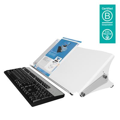 Dataflex Addit ErgoDoc documenthouder - verstelbaar 401, mat acryl Ordner - Transparant