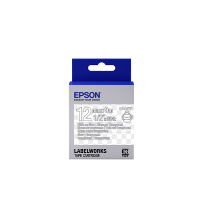 Epson Transparent Tape - LK-4TWN Clear White/Clear 12/9 Labelprinter tape