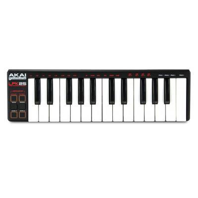 Akai MIDI keyboard: USB-MIDI controller , 25 keys, 40 g - Zwart