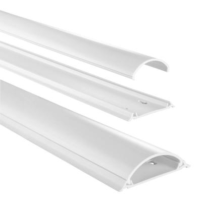 Hama montagekit: Cable Duct, semicircular, 100/2.1 cm, white - Wit