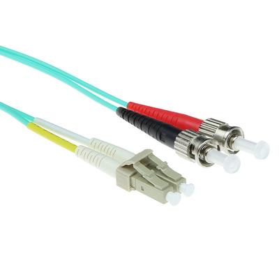 ACT 10m LSZHmultimode 50/125 OM3 glasvezel patchkabel duplexmet LC en STconnectoren Fiber optic kabel - .....
