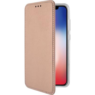 Azuri Bookletcase met magnetische sluiting - goud roze - voor iPhone X/Xs Mobile phone case