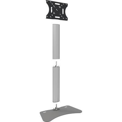 """SmartMetals Deelbaar statief max. 90"""" incl. bracket max. VESA 600-400 Monitorarm - Aluminium, Grijs"""