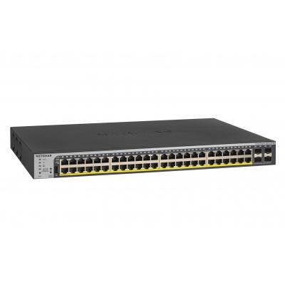 Netgear ProSAFE GS752TPP 48-Port Gigabit Hi-Power PoE+ Smart Managed Pro Switch - Zwart