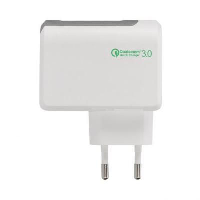 Xqisit 120 - 240 V, white/grey, EU plug Oplader - Grijs, Wit