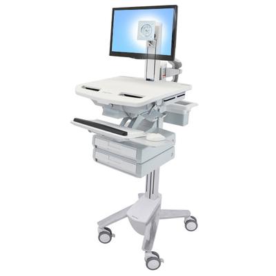 Ergotron StyleView Multimedia kar & stand - Aluminium, Grijs, Wit
