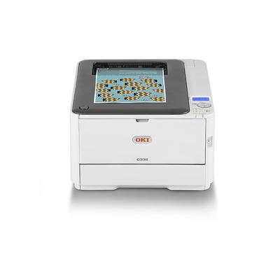 OKI C332dn Laserprinter - Zwart, Cyaan, Magenta, Geel