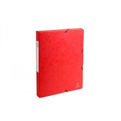 Exacompta archiefdoos: Archiefdoos Rug 25mm versterkt karton - A4 - Rood