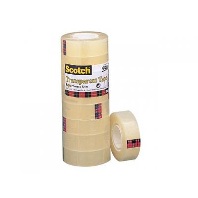 Scotch transparante tape: Plakband 550 19mmx33mt r/pak 8rol