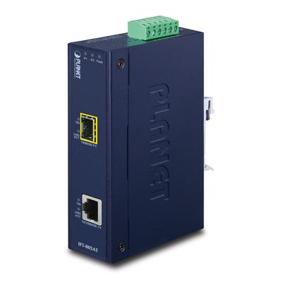 PLANET 10/100Base-TX to 100Base-FX (SFP) Industrial Media converter - Blauw