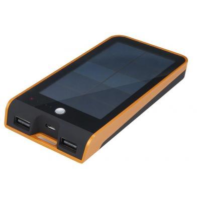 Xtorm powerbank: Basalt solar - Zwart, Oranje