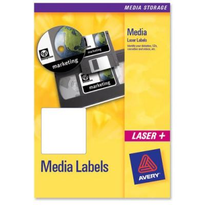 """Avery 8.89 cm (3.5 """") Diskette voorkant, Zonder Omslag, Laser, 250pcs. Etiket - Wit"""