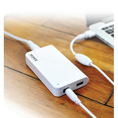 "Port designs netvoeding: 60W, USB 2.1A, 150g, Macbook/Macbook Pro 11/12/13"" - Wit"