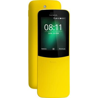 Nokia 8110 4G - Alphanumeric Smartphone - Geel 4GB