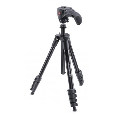 Manfrotto tripod: Compact Action Black - Zwart