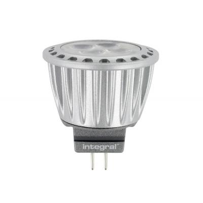 Integral hardware: MR11 (12V) LED Spot, 4000K, 3.7W, 245 Lumen, non dimmable