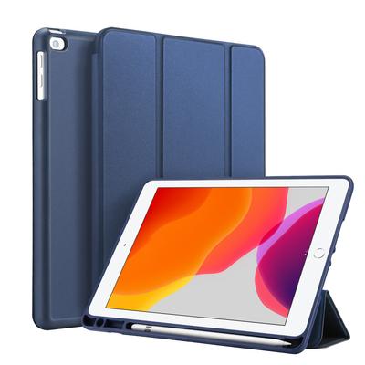 Accezz Smart Silicone Bookcase iPad 10.2 (2019 / 2020) - Blauw - Blauw / Blue Tablet case