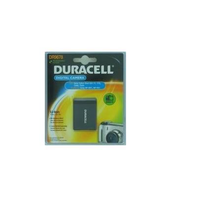 Duracell batterij: Digital Camera Battery 3.7v 650mAh 2.4Wh - Zwart