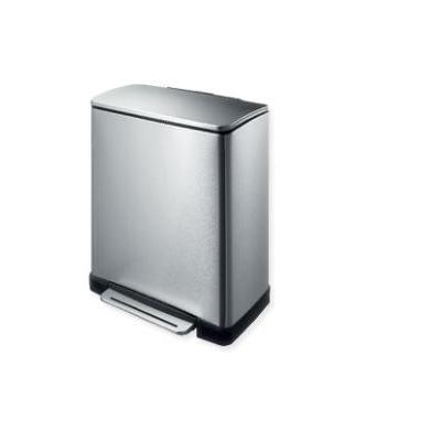 Eko - europe prullenbak: E-Cube Step Bin 28+18L VB 9268 - Roestvrijstaal