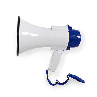 Nedis MEPH150WT Megafoon - Wit, Blauw