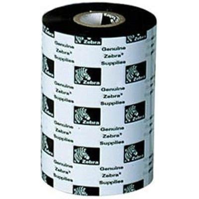 Zebra 2100 Wax Thermal Ribbon 80mm x 450m Printerlint - Zwart