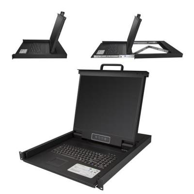 "Startech.com rack console: 1U 1 poorts KVM console voor server rack 19"" - Zwart"