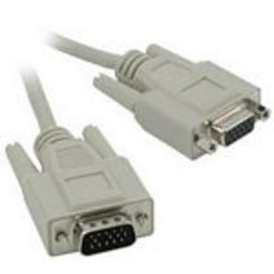 C2g VGA kabel : 5m HD15 M/F SVGA Cable - Grijs